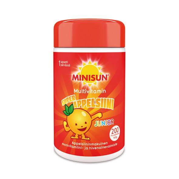 Minisun-Multivitamin-Junior-Appelsiini-200tbl-RGB-590×590