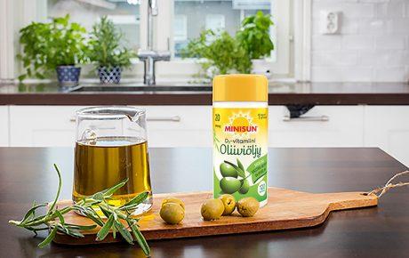 Uusi D-vitamiini sisältää extra-neitsytoliiviöljyä